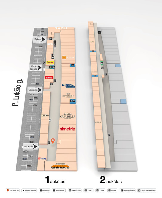3D map of shopping centre