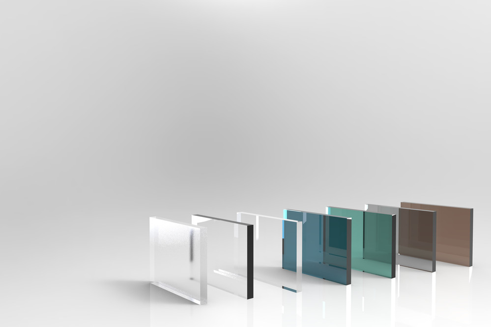 Glass palette for product catalog