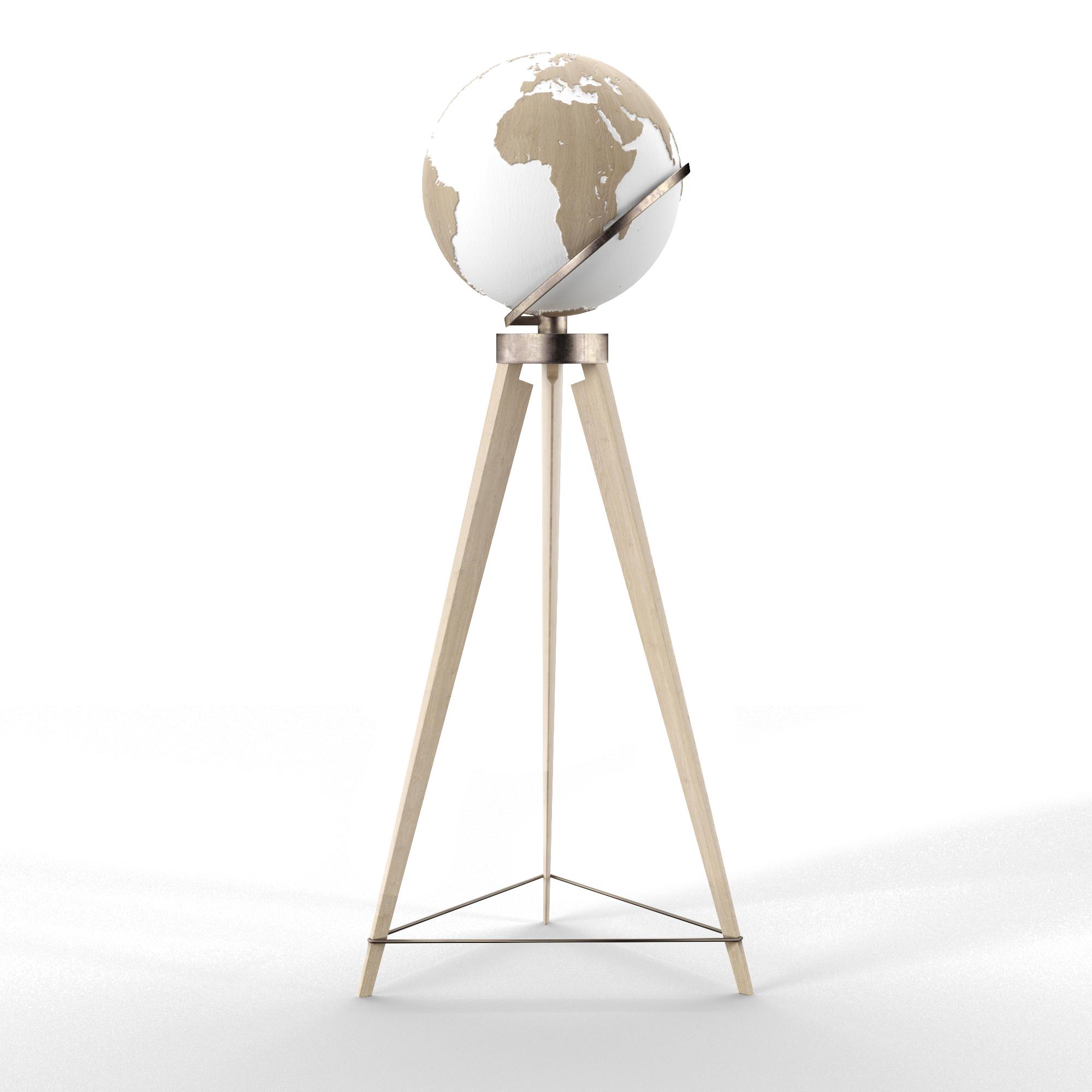 Globe - Oak Brass