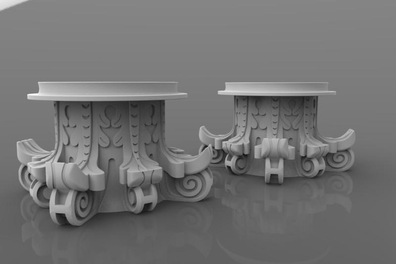 Replica rendering for 3D printing