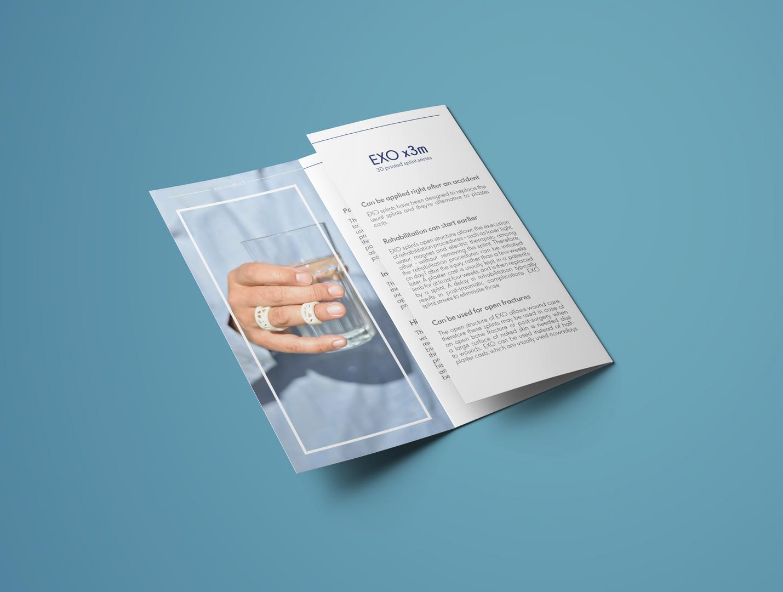 EXO tri-fold leaflet