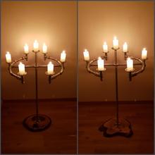 Kerzenständer aus Sanitärröhrchen