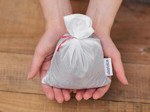 Small reusable bulk food bag, ripstop nylon