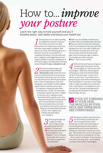 Easy ways to improve your posture and feel better