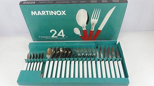 MARTINAZZO FAQUEIRO MARTINOX 24 PEÇAS TABLEWARE SET