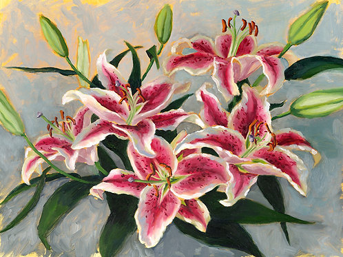 Stargazer Lilies - Limited Edition Print