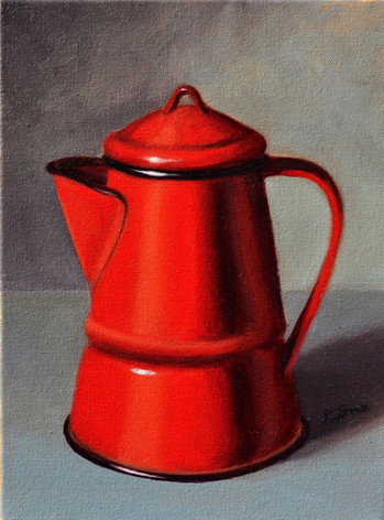 Red Coffee Pot