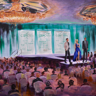 Live Event Painting GBMC Bariatric Holiday Party