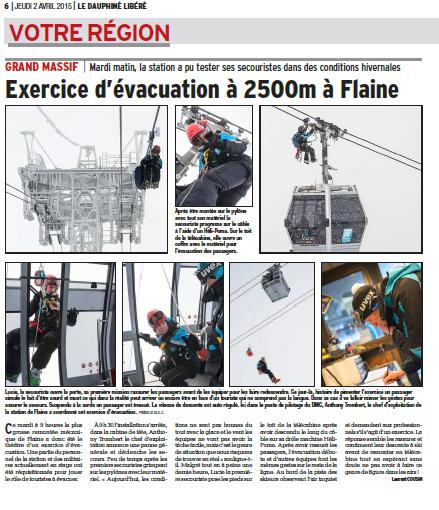 Exercice d'évacuation télécabine
