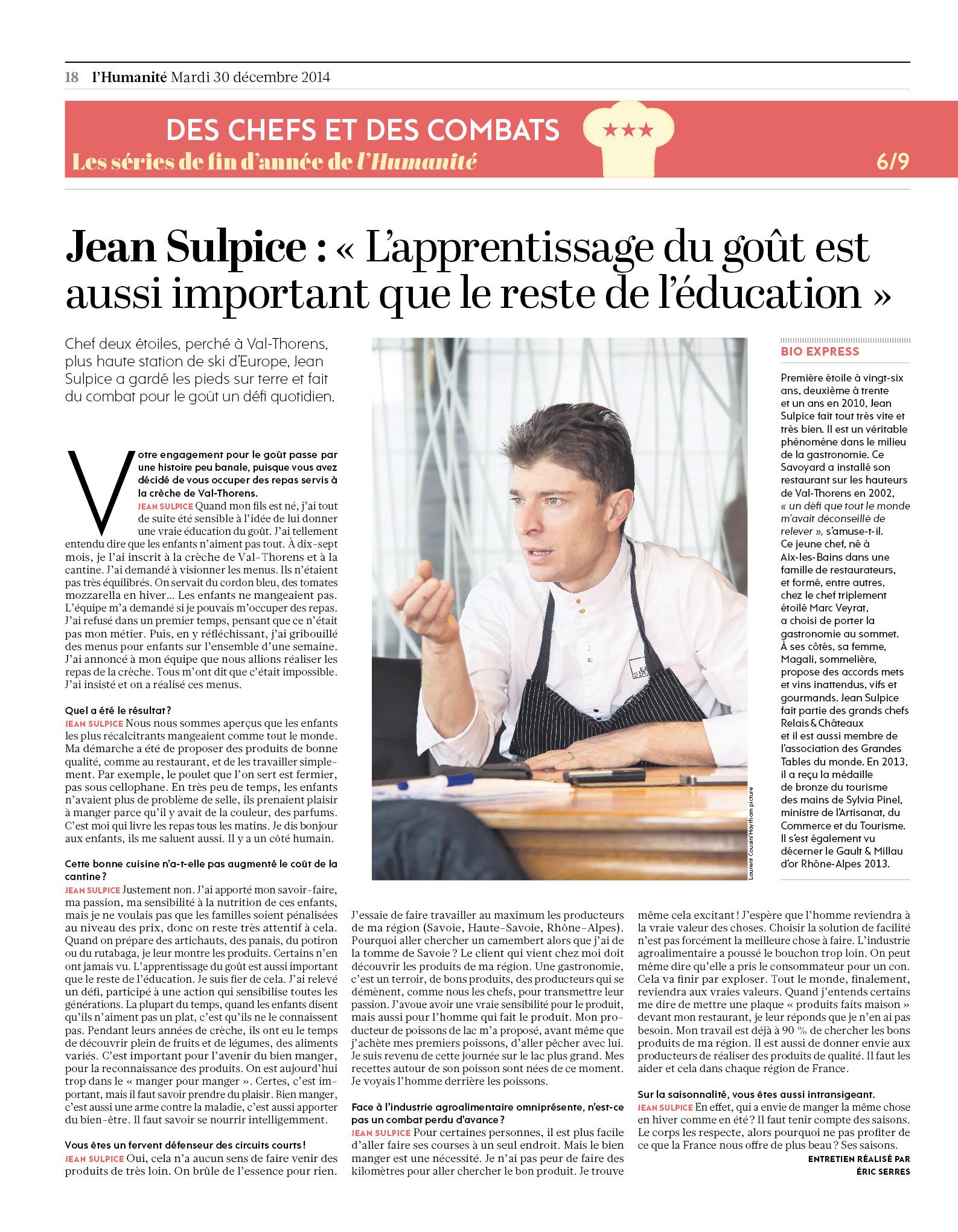 Jean Sulpice pour l'Humanité