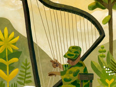 The Soldier Plays the Harp