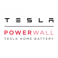 Tesla Powerwall tesla home battery logo.