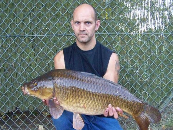 Mark with a nice common carp
