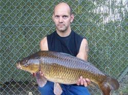 Mark with a nice common carp