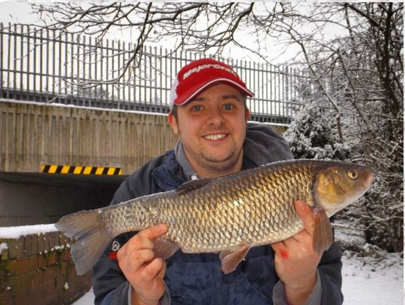 Paul Wheate with canal caught chubb