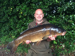 Jason with a nice canal common carp
