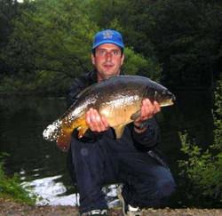Simon Hale with Leather carp