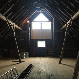 Before photo of the barn loft.