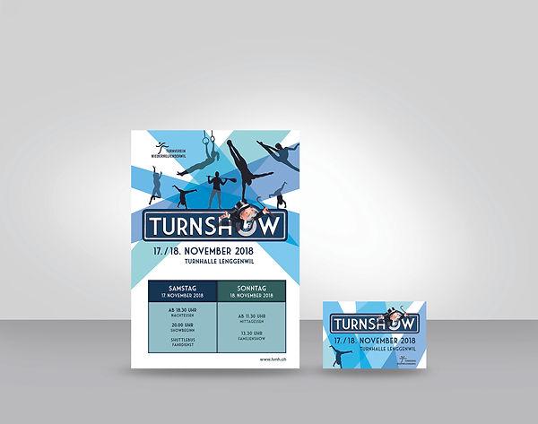 Turnshow Flyer, Visitenkarte
