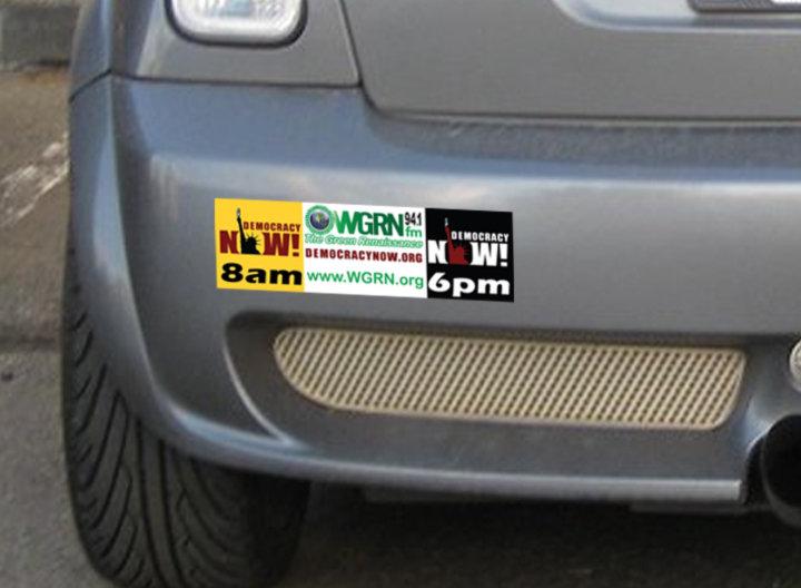 DemocracyNOW! am/pm Bumper Sticker