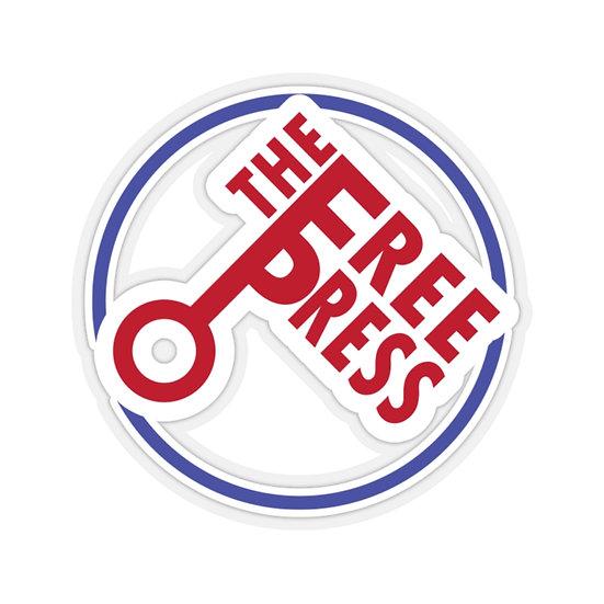 Columbus Free Press Key Stickers