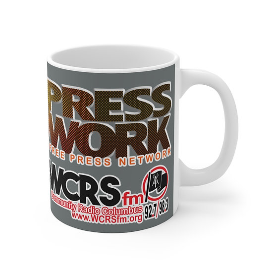 Free Press Network; WGRN & WCRS Mug 11oz (Gray)