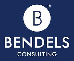 Bendels Consulting Logo_White on Blue.jp