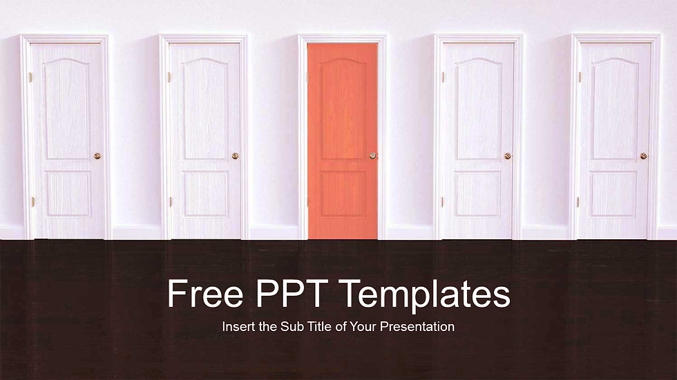 Closed Red Door PPT Templates