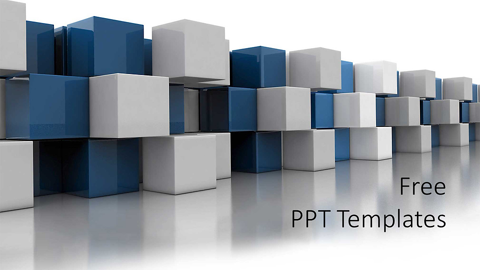 Abstract Blue Cube PPT Templates