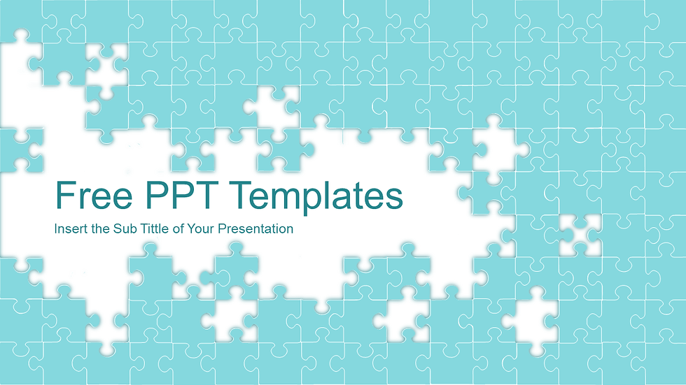 Abstract Puzzle Powerpoint Templates