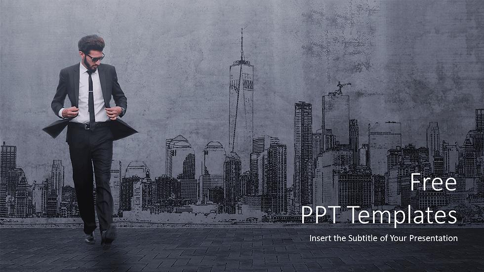 Businessman Cityscape PPT Templates