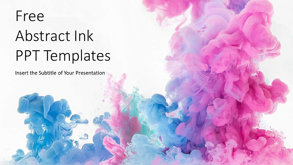 Abstract Ink Drop PPT Templates