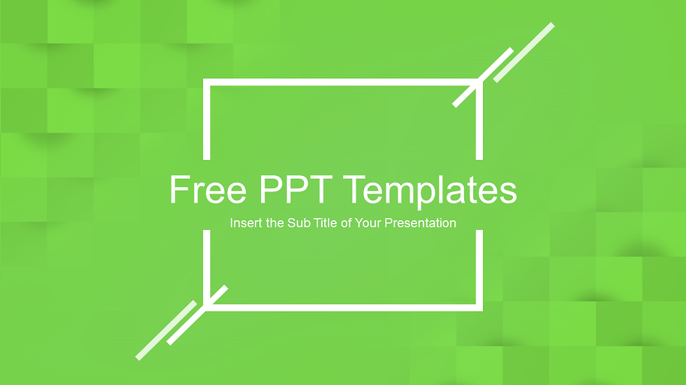 Abstract Squares Power Point Templates