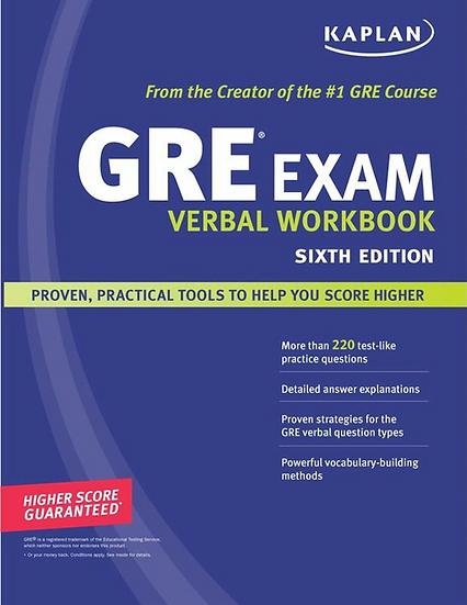 GRE Verbal WorkBook 캐플란