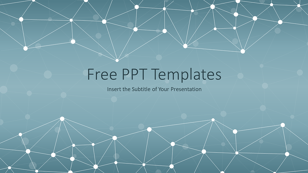 Abstract Polygonal Space PPT Templates