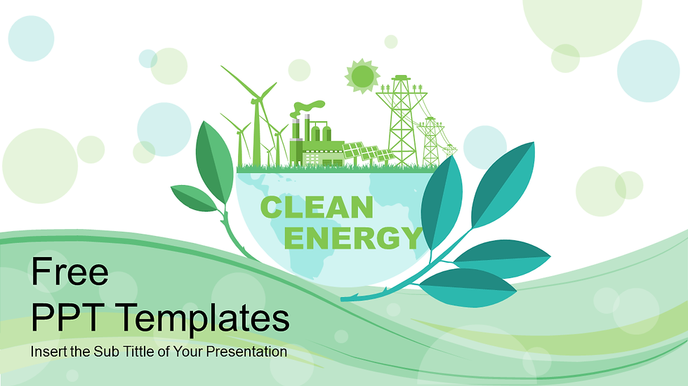 Clean Energy PPT Templates