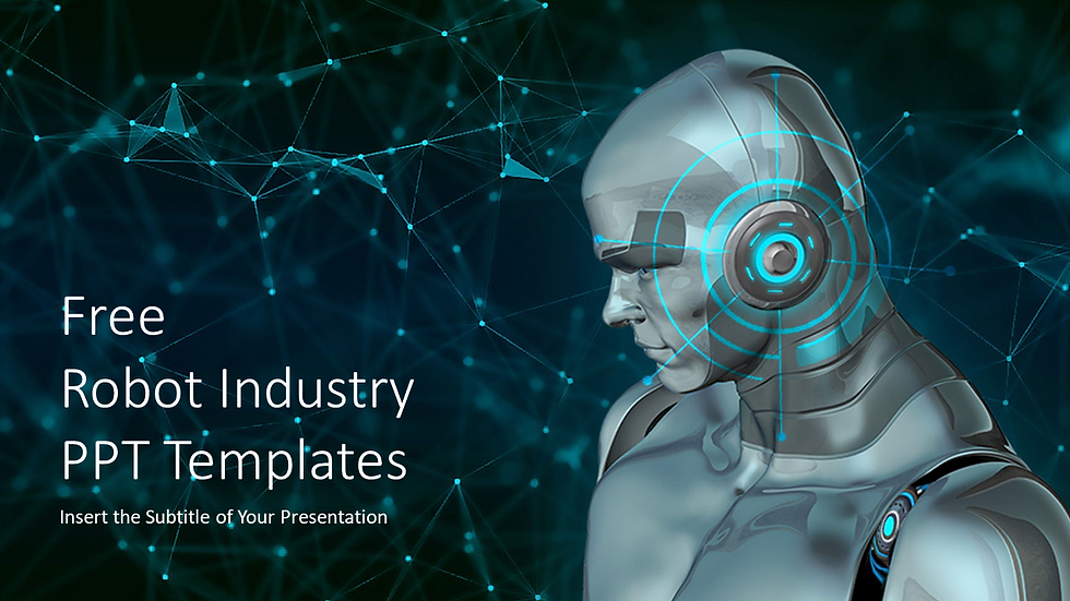 로봇 산업 PPT 템플릿