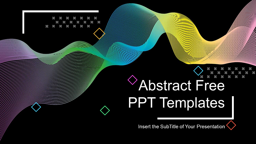 Abstract Wave Lines PowerPoint Templates