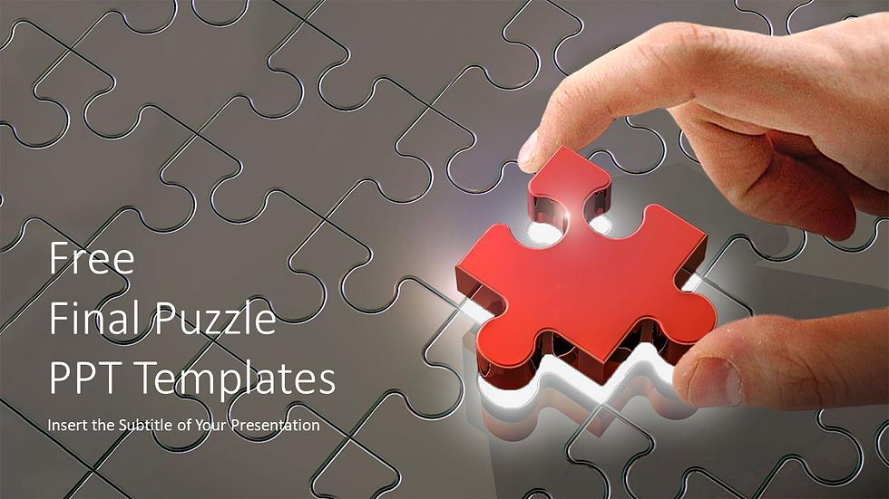Final Puzzle PiecePPT Templates
