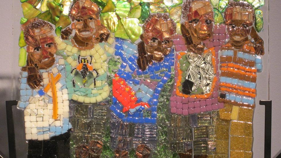 ugandan friends for life artwork glass