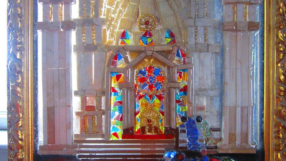 Worship at the Duomo glass art mosaic