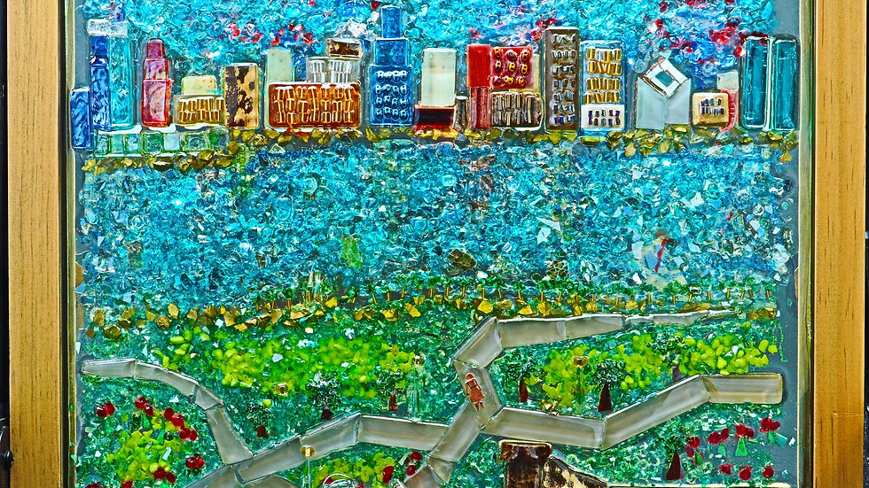 Chicago Skyline mosaic art