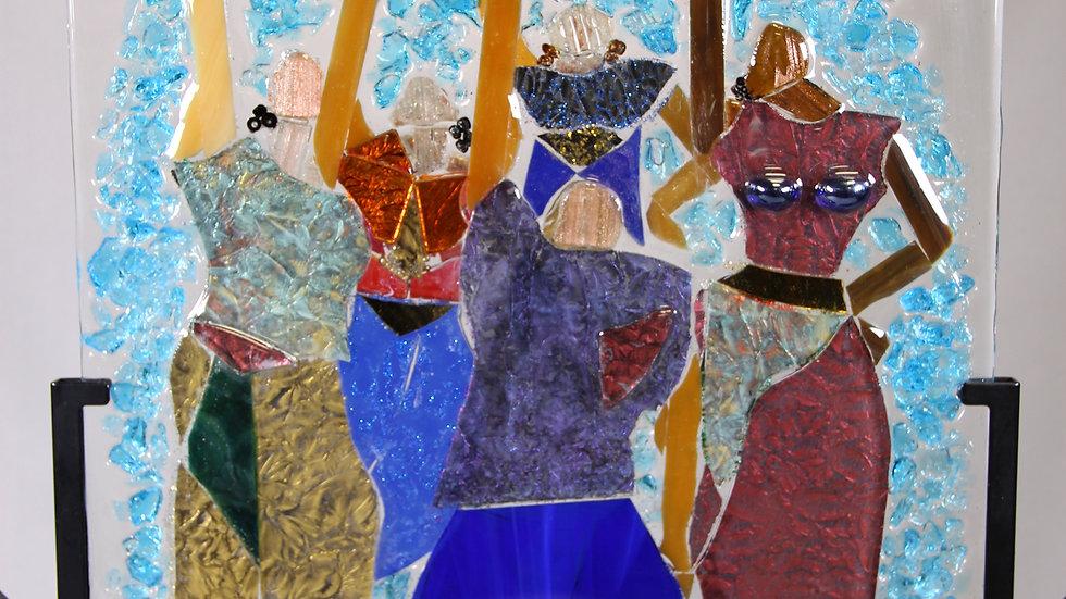 Praise artwork glass mosaic