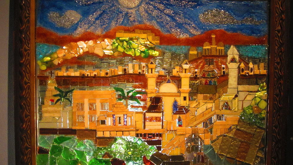 City of Hope, glass art mosaic