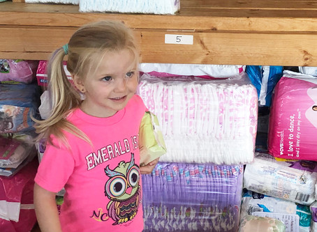 3 Year Old ZellaJayne Donates Diapers