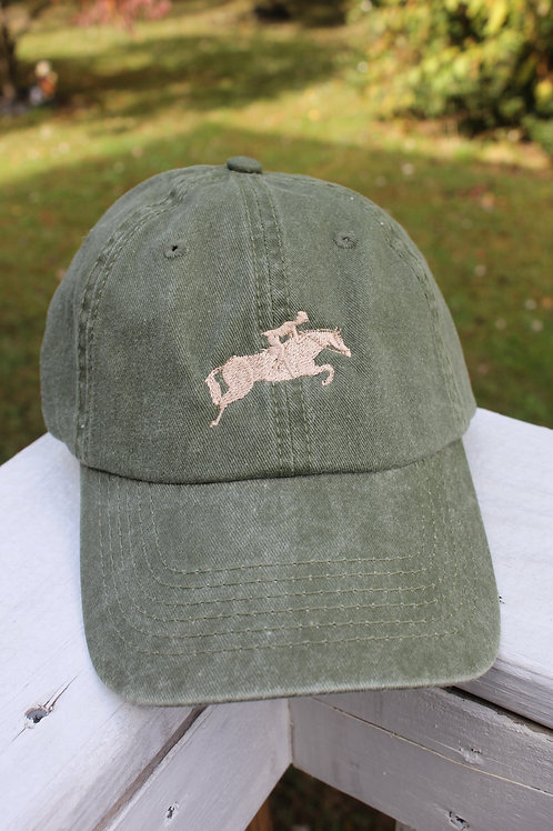 Jumping Horse on a Baseball Cap