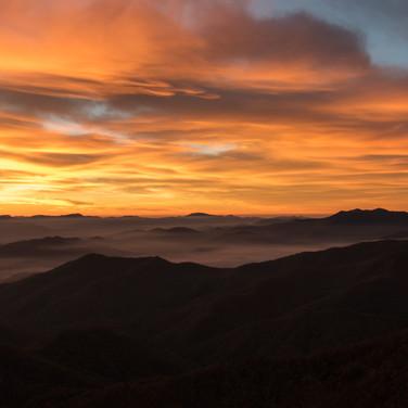 Sunrise from Wayah Bald