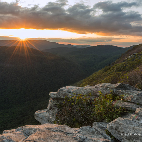 Sunset on Pickens Nose Trail