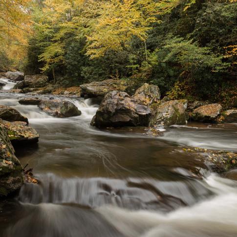 Cullasaja Falls - Fall Scene