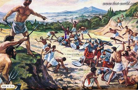 napadenie-vosstavshih-rabov-na-rimskih-v